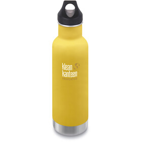 Klean Kanteen Classic Vacuum Insulated Gourde Couvercle boucle 592ml, lemon curry matt